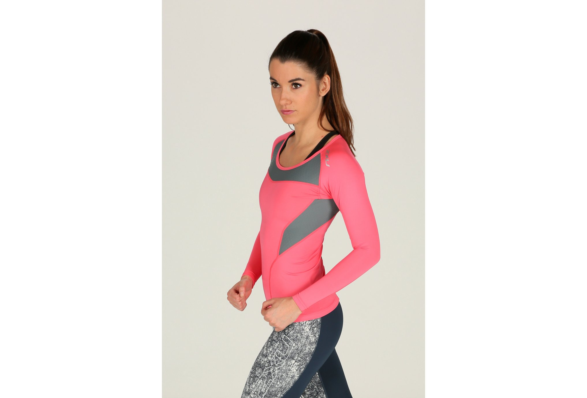 2xu Tee-Shirt l/s xform compression w vêtement running femme