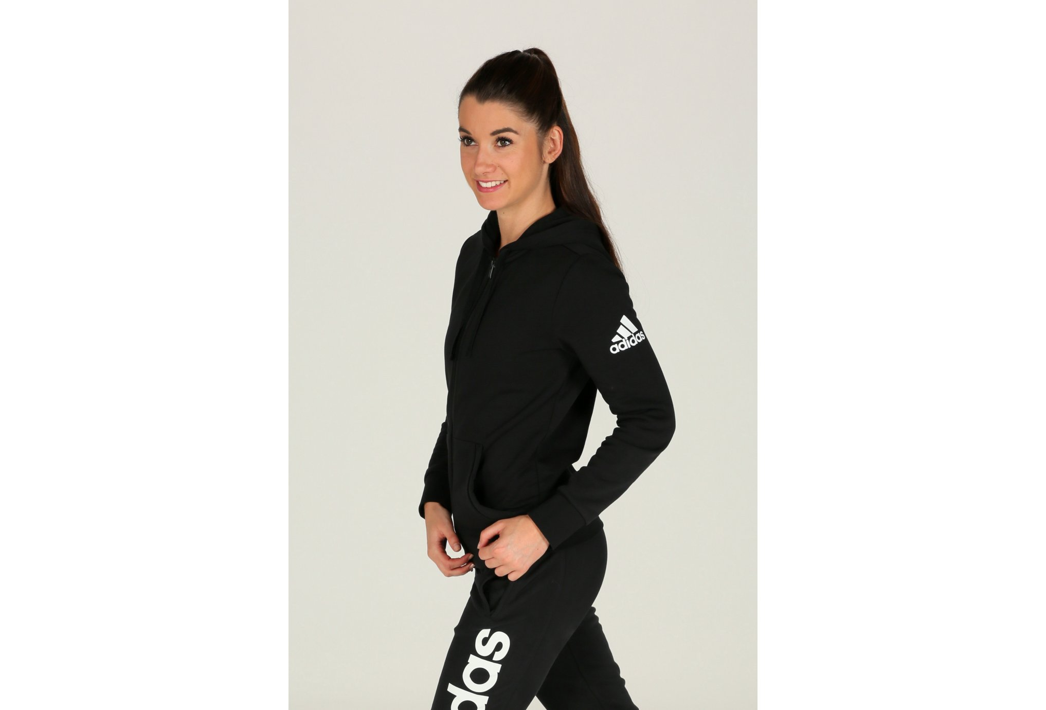Adidas Essentials solid fz hoodie w vêtement running femme