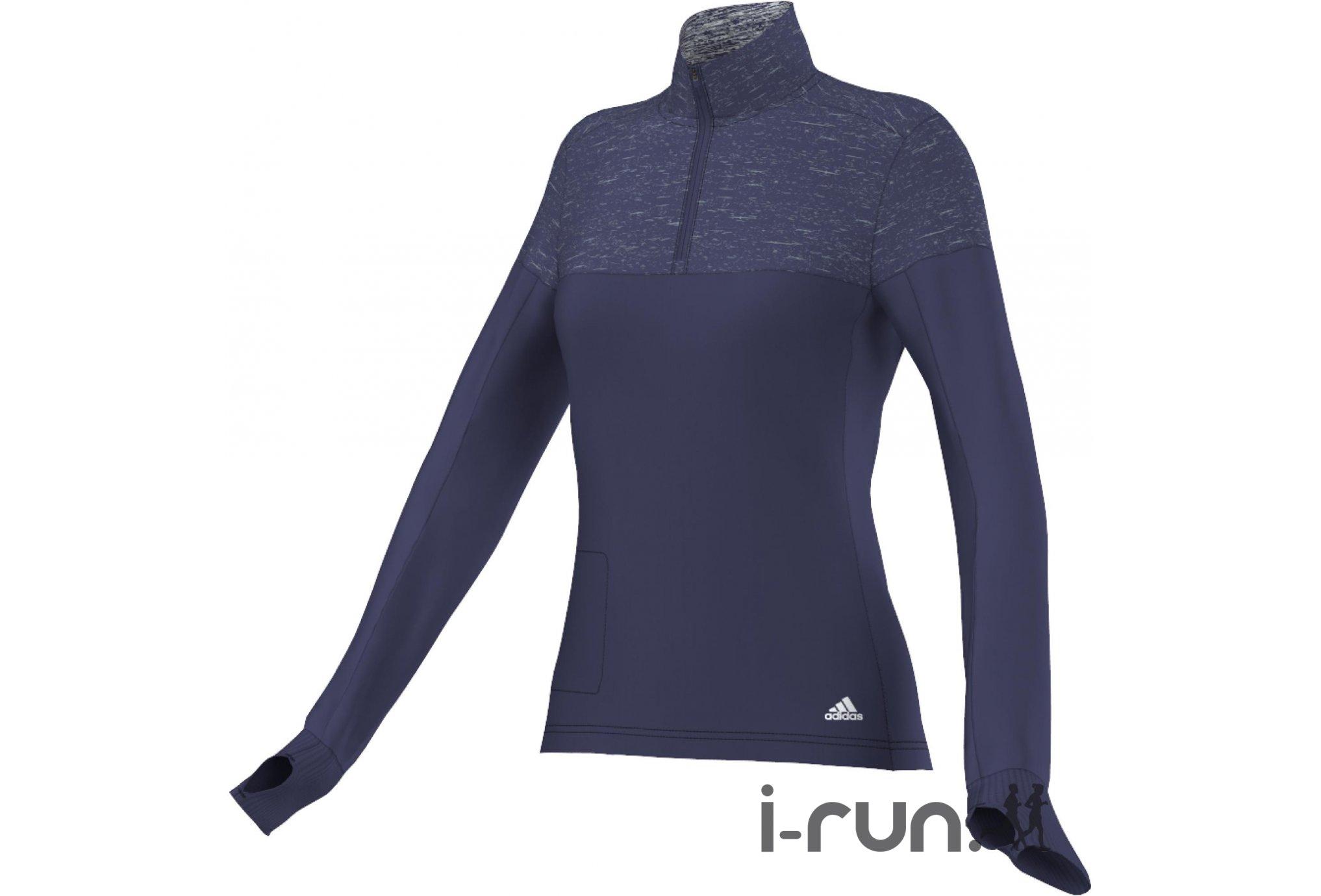 Adidas Maillot supernova storm 1/2 zip w vêtement running femme