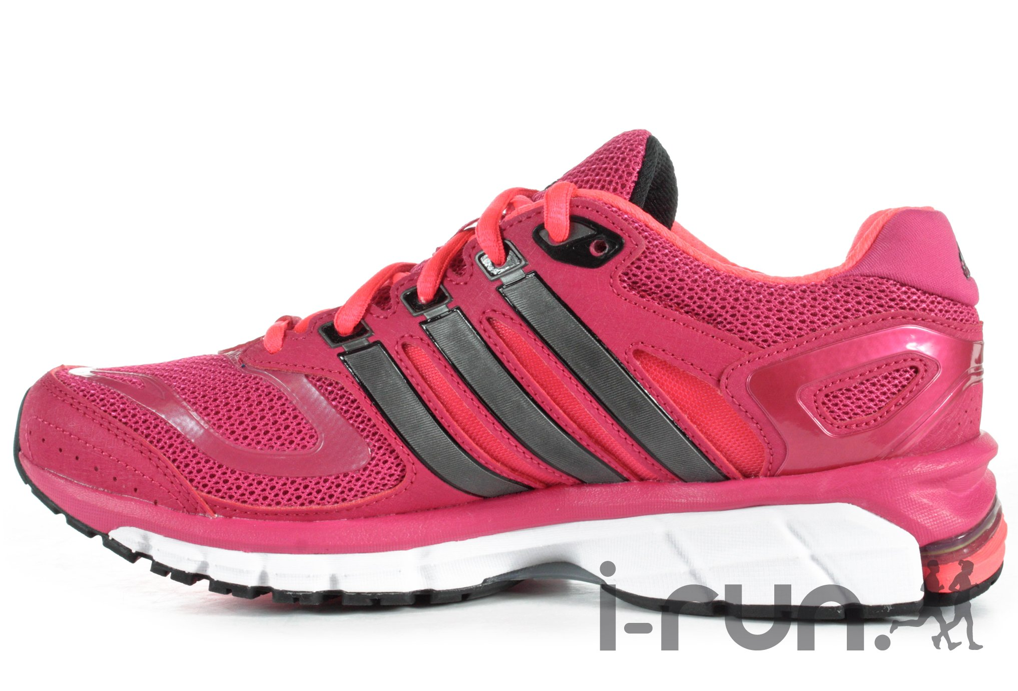 chaussures running femme response blanc rose adidas. Black Bedroom Furniture Sets. Home Design Ideas