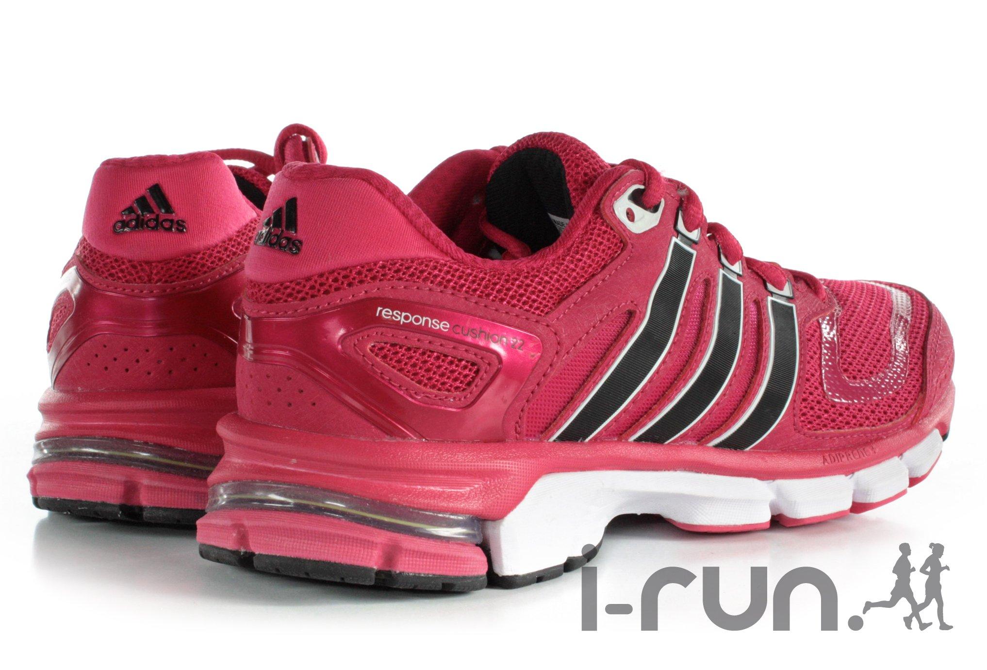 chaussures running femme response blanc rose adidas
