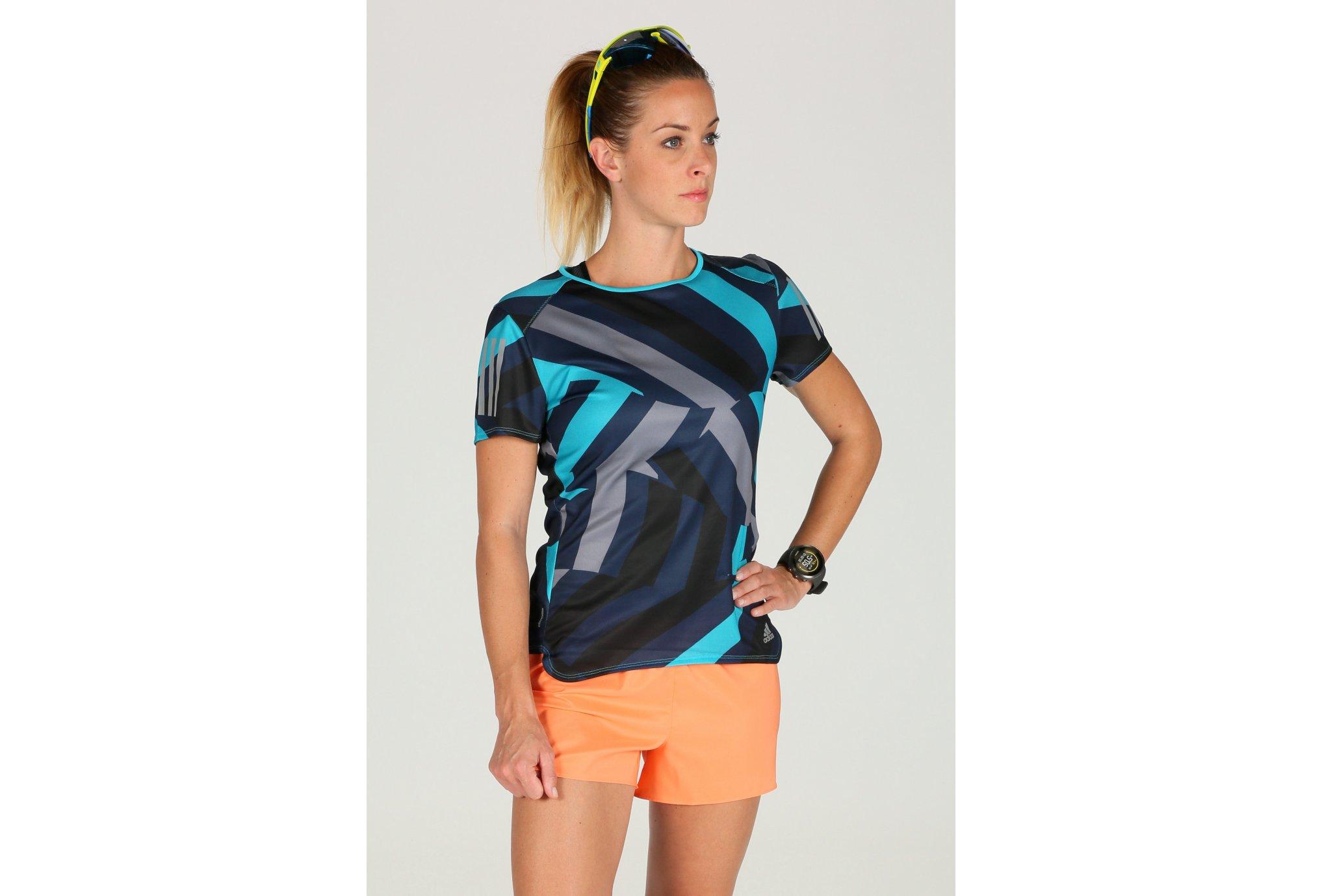 Adidas Response graphic w vêtement running femme