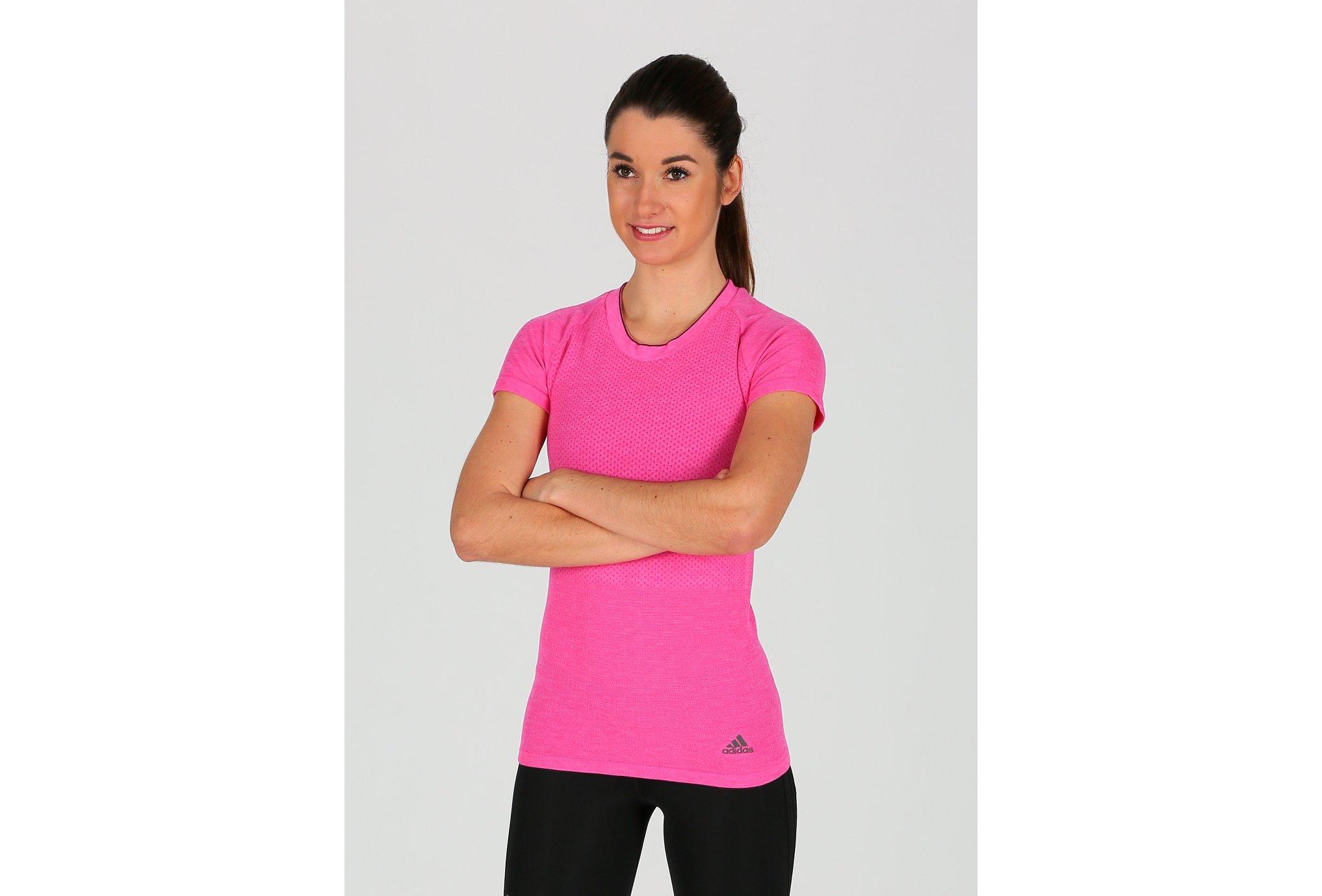 adidas Tee-shirt adistar Primeknit W vêtement running femme