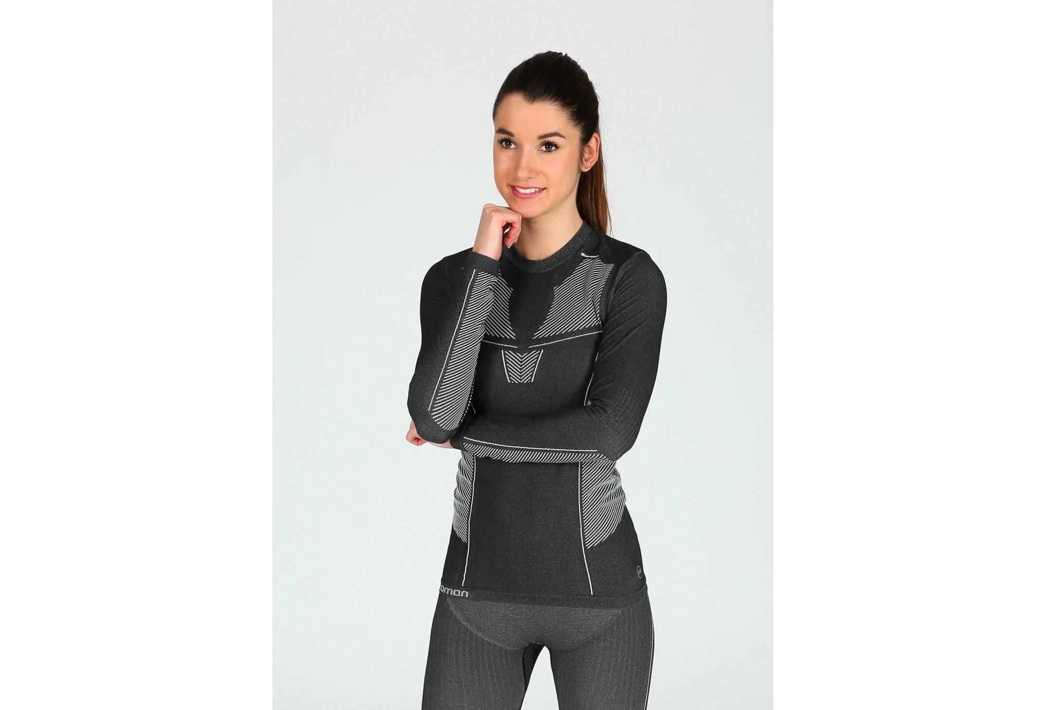 Salomon Primo Warm LS CN Seamless W vêtement running femme