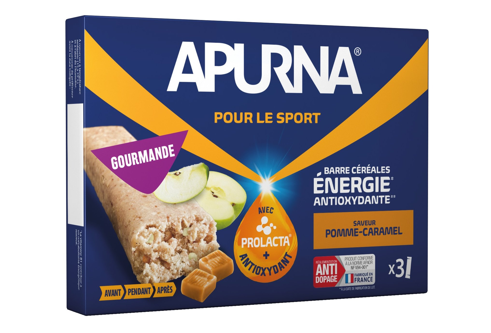 Apurna Barres énergétiques - Pomme/Caramel Diététique Barres