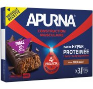 Apurna Etui Barres Hyperprotéinées - Chocolat