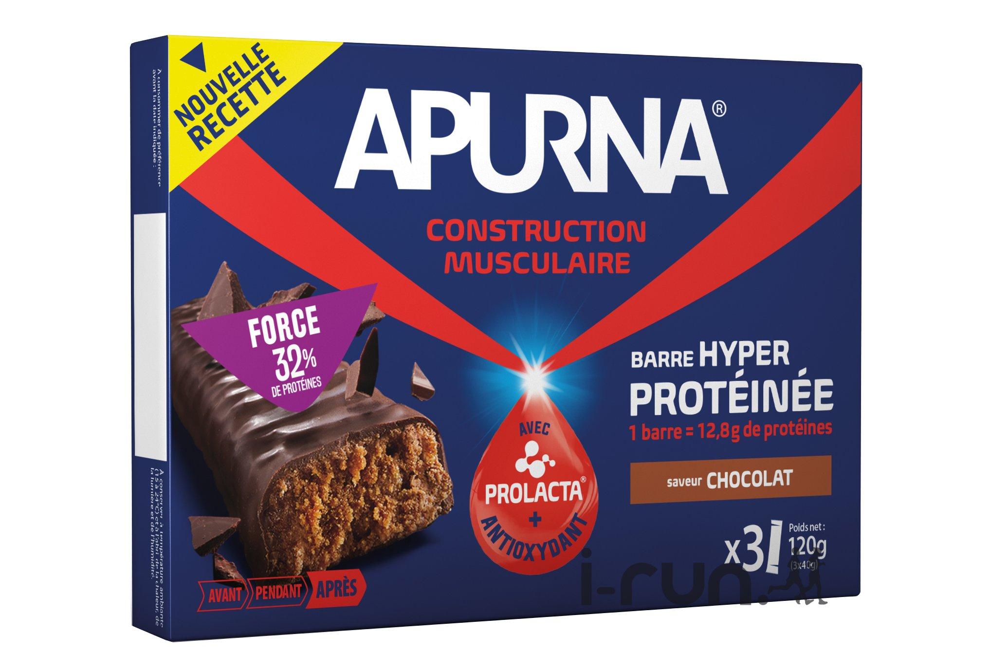 Apurna Etui barres hyperprotéinées - chocolat diététique protéines / récupération
