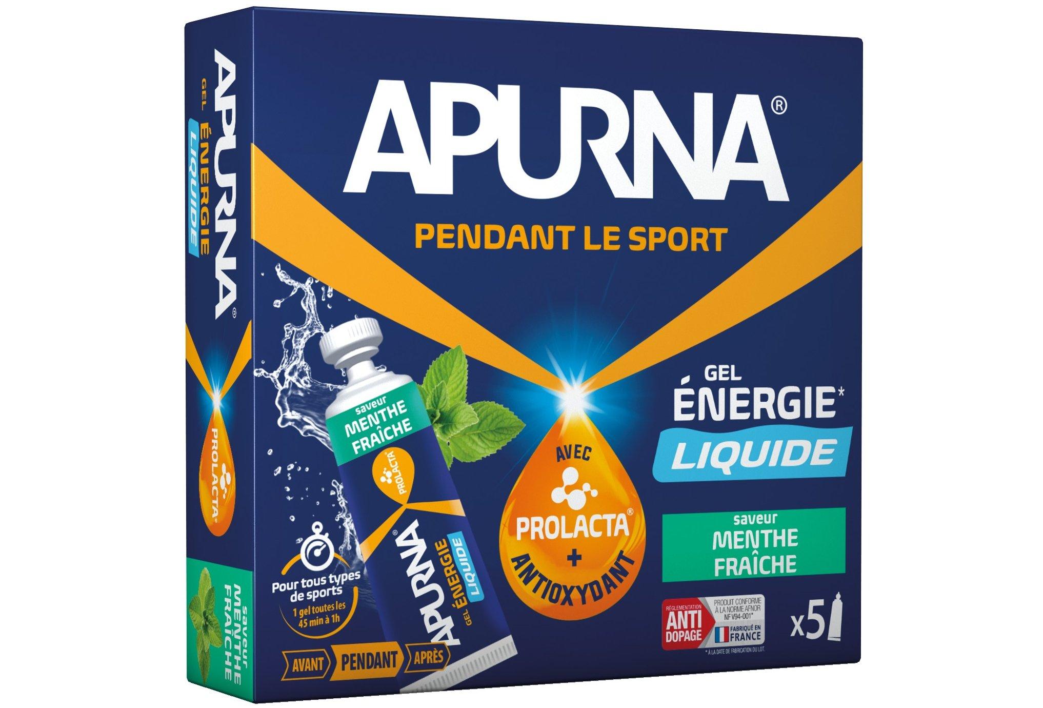 Apurna Etui gels energétiques liquide - menthe diététique gels