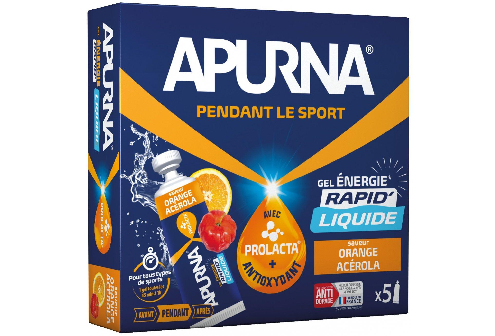 Apurna Etui gels energétiques liquide - orange acérola diététique gels