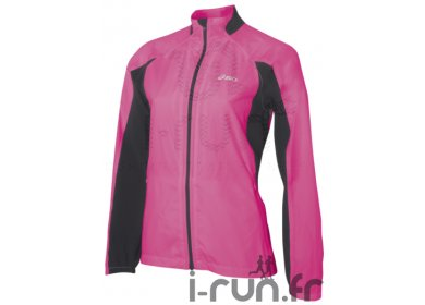asics coupe vent running rose et noir m v tements femme running vestes coupes vent asics. Black Bedroom Furniture Sets. Home Design Ideas