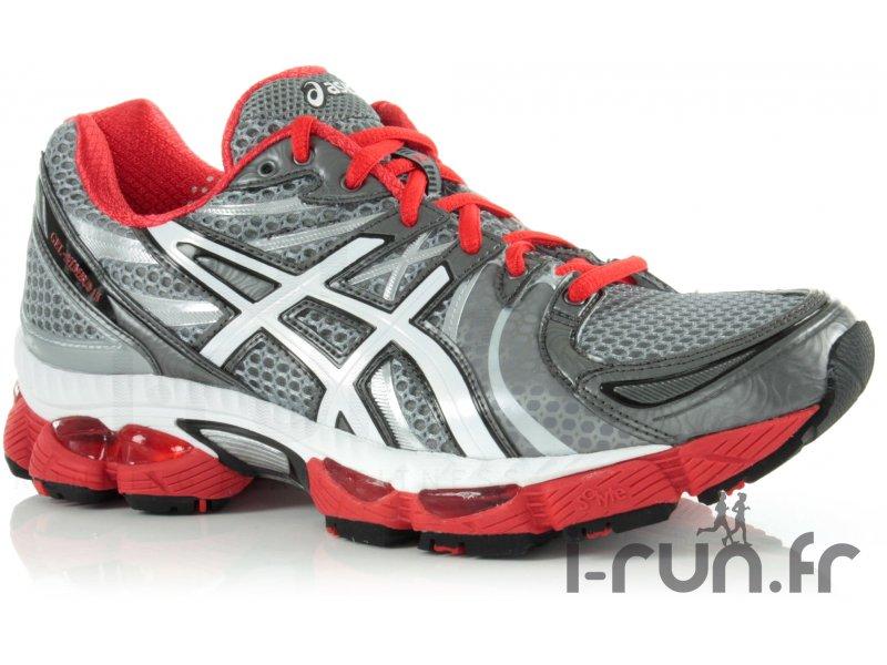 Asics gel nimbus 13 grise et rouge pas cher destockage running chaussures h - Gel aloe vera pas cher ...