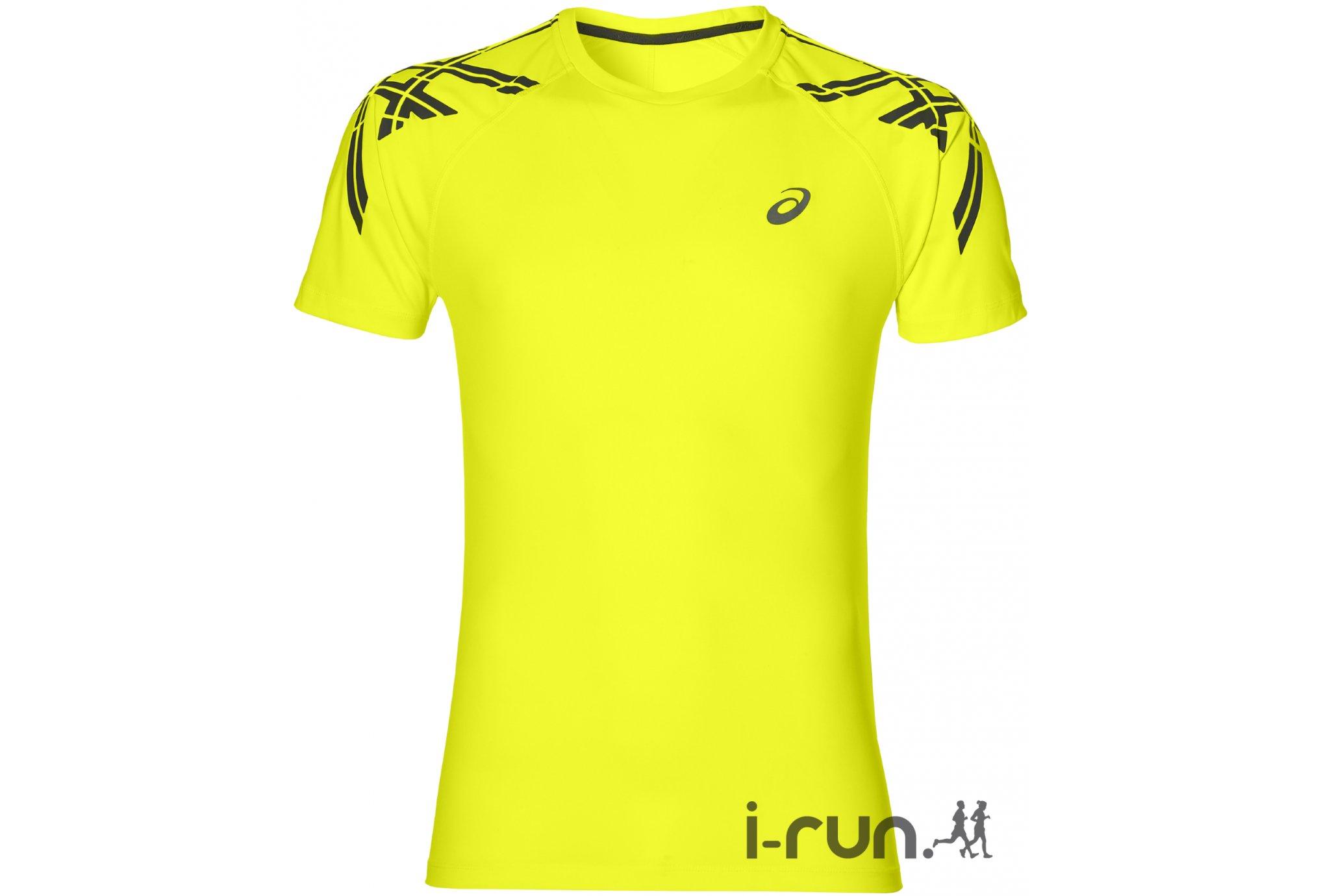 Asics Stripe SS Top M vêtement running homme