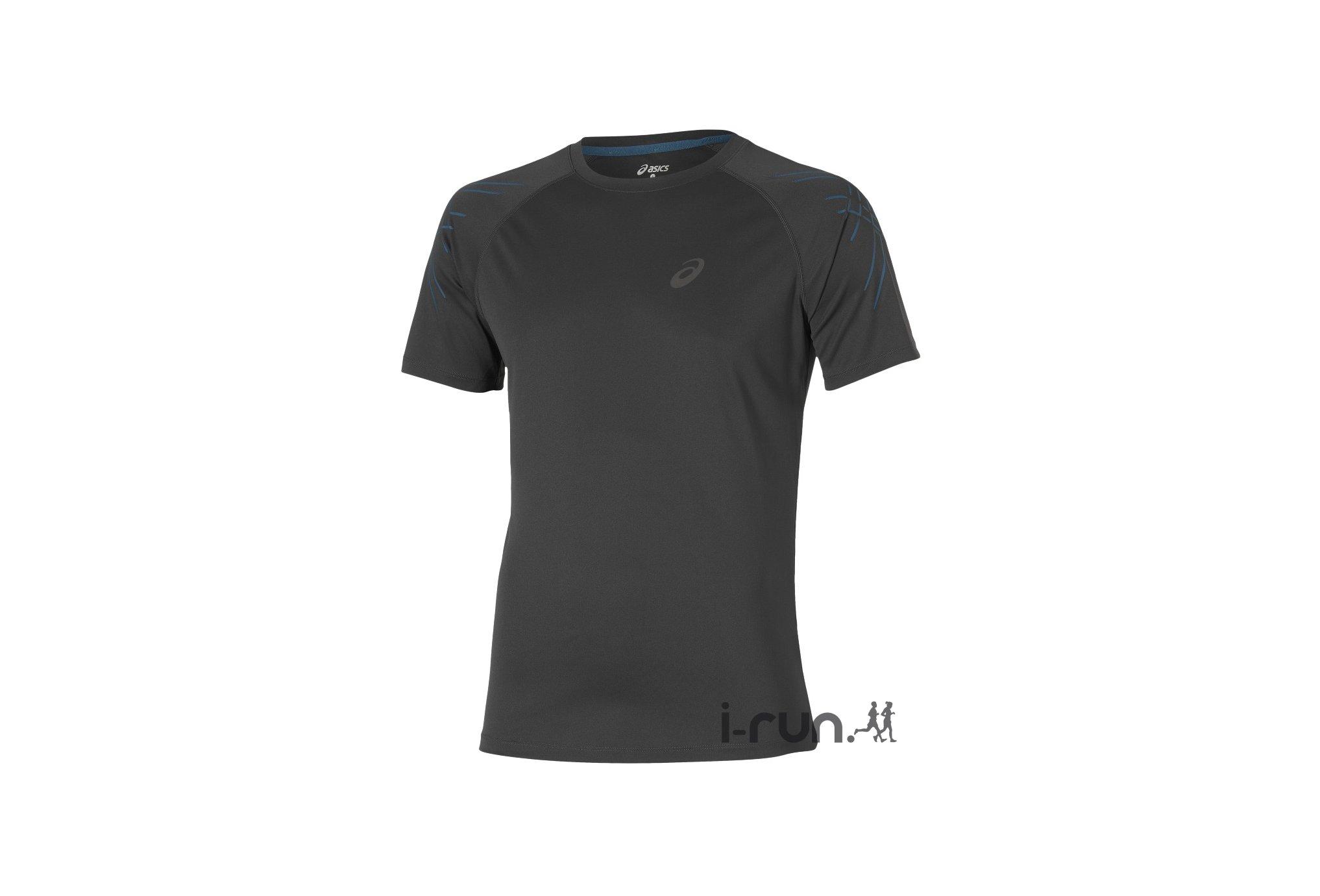 Asics Tee-shirt Stripe Top M v�tement running homme