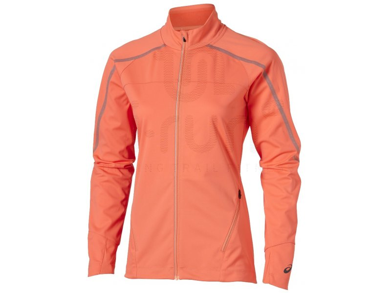 asics veste lite show winter w pas cher v tements femme running vestes coupes vent en promo. Black Bedroom Furniture Sets. Home Design Ideas