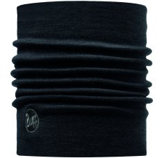 Buff Merino Wool Thermal Neckwarmer Black