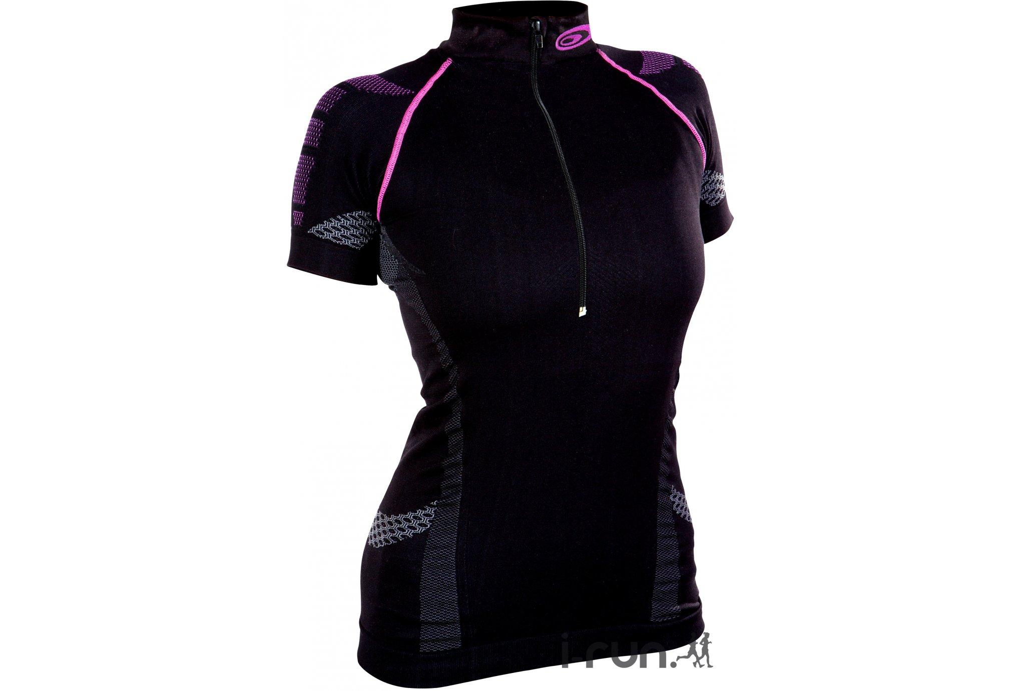BV Sport Tee-shirt Nature3R 1/2 zip W vêtement running femme