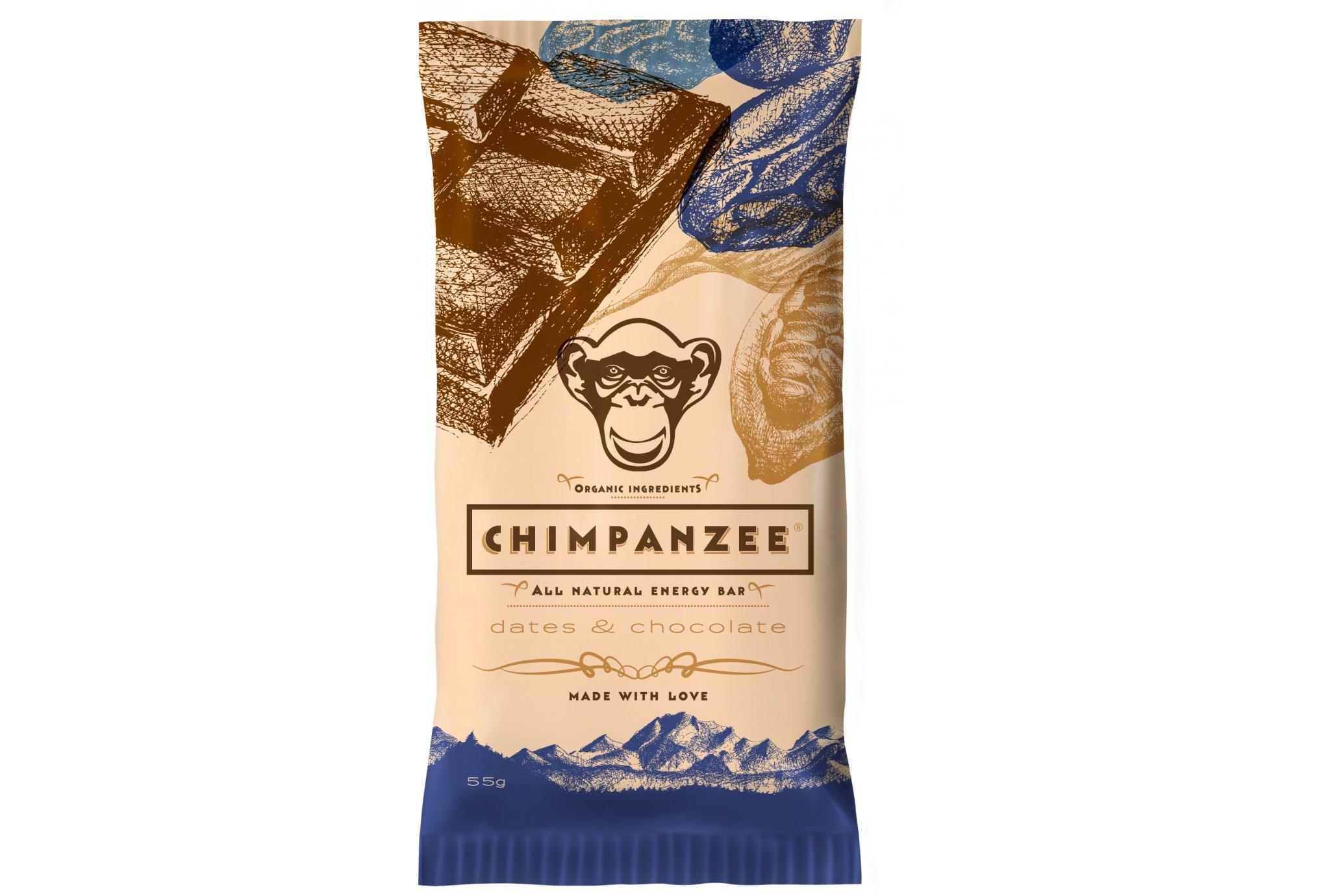 Chimpanzee Barre énergétique - Chocolat/Dattes Diététique Barres