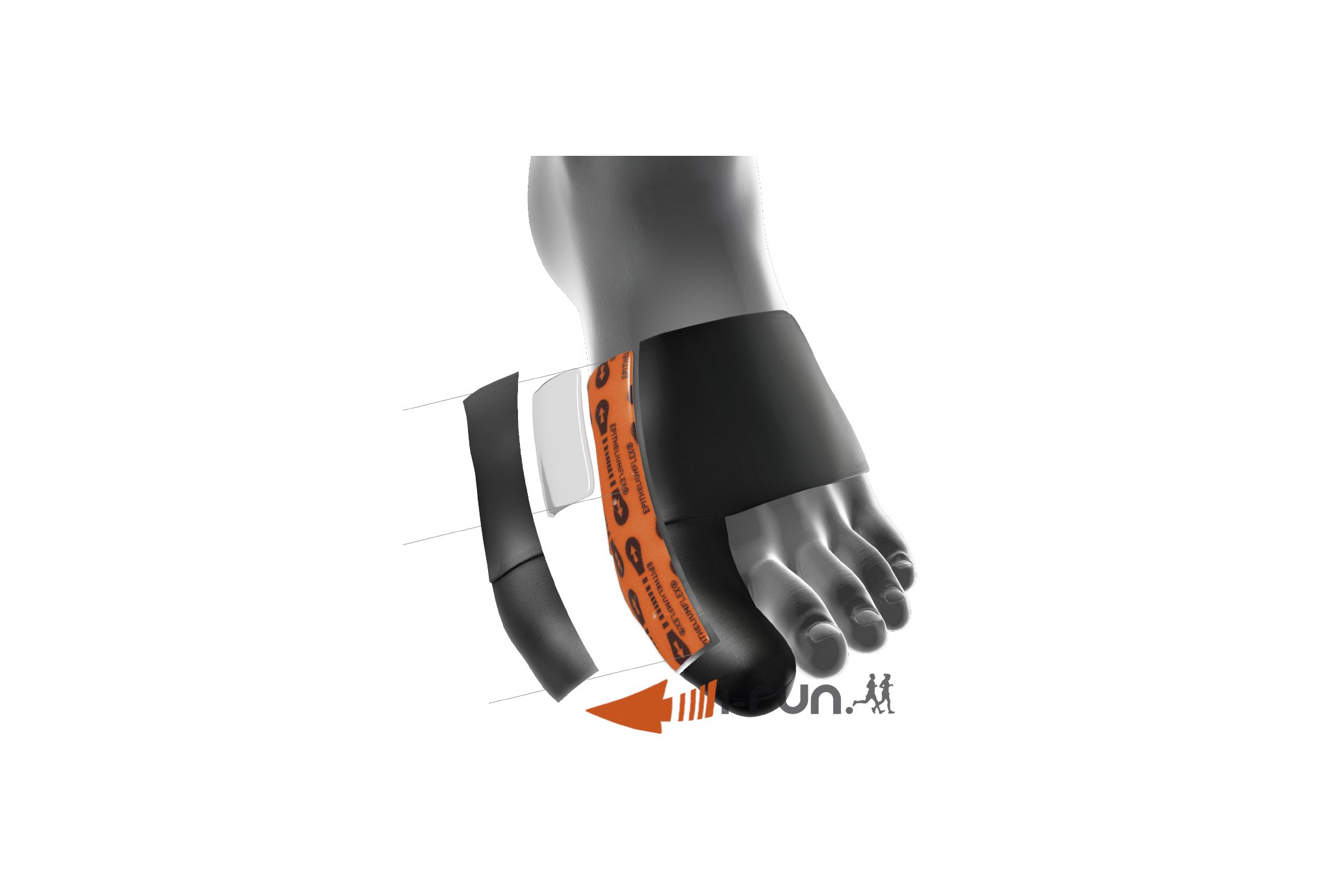 Epitact Orthèse Hallux Valgus Epithelium Flex 02 Protection musculaire & articulaire