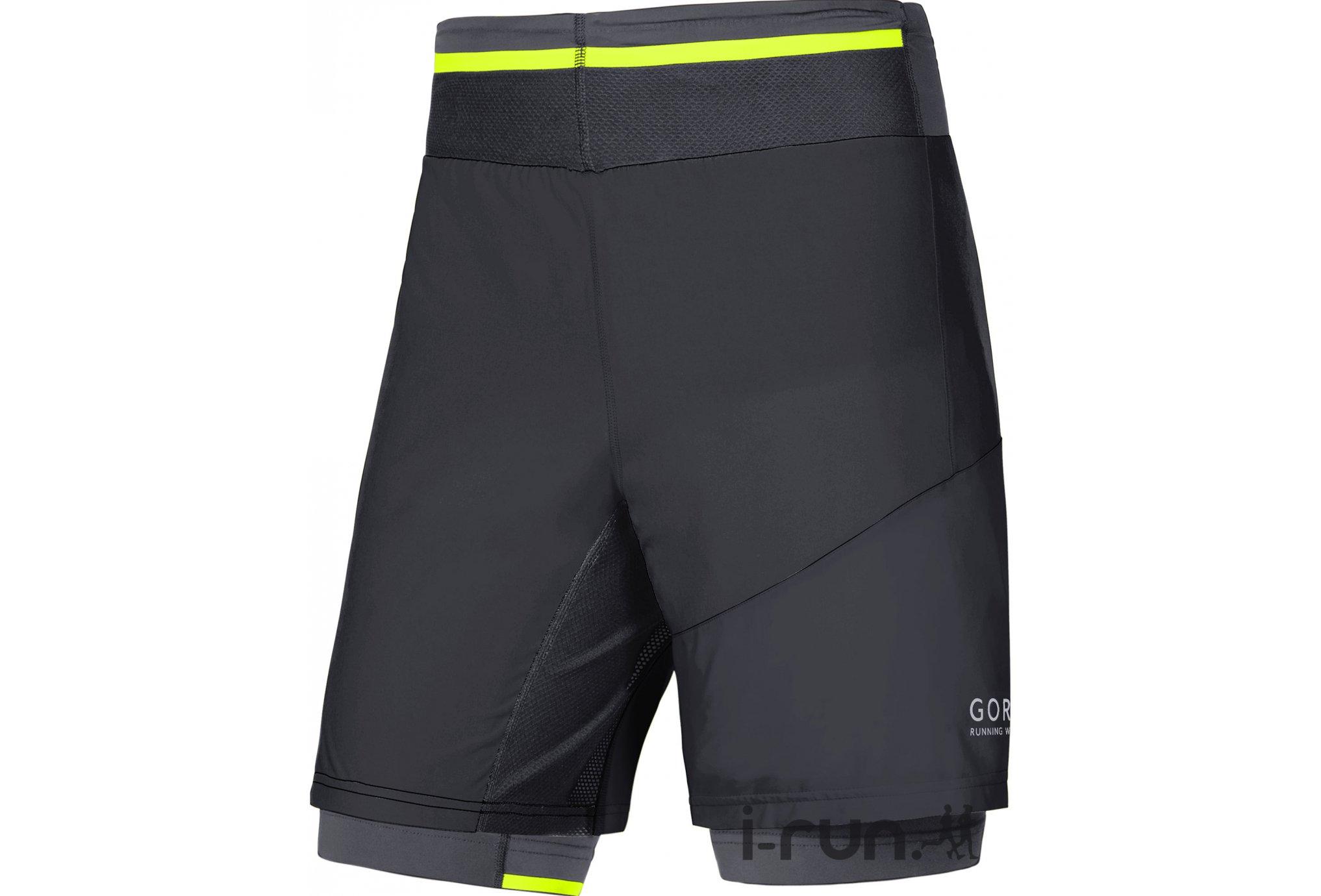 Gore Running Wear Short Fusion 2 en 1 M vêtement running homme