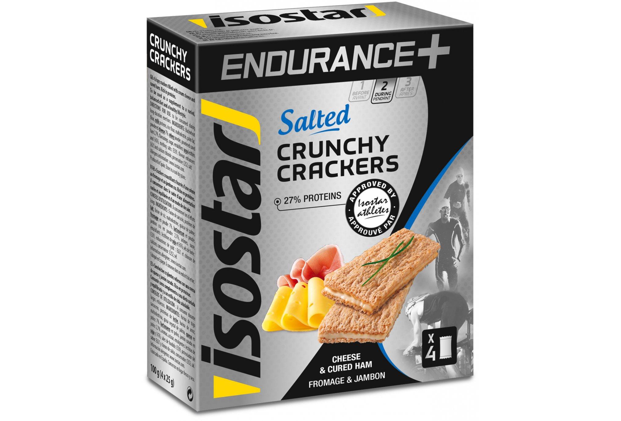 Isostar Crunchy Crackers Endurance+ - Jambon Fromage Diététique Barres