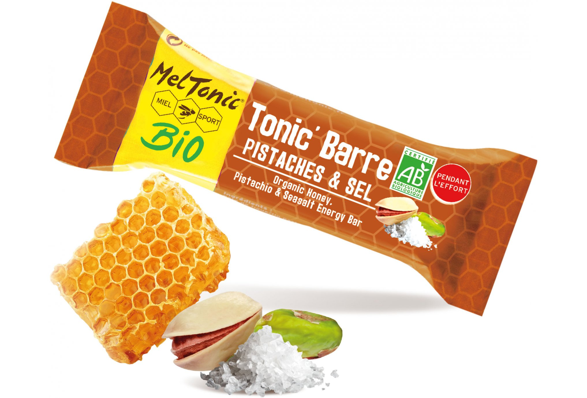 MelTonic Tonic'Barre BIO - Pistache Fleur de Sel Diététique Barres