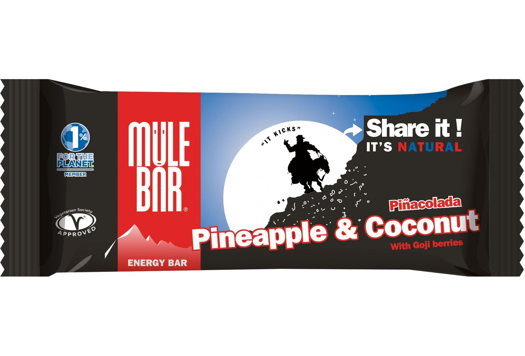 Mulebar Barre Energétique Pinacolada - Ananas/Noix de Coco Diététique Barres