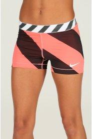 Nike Pro Cuissard court Diagonal Stripe 7.5cm W