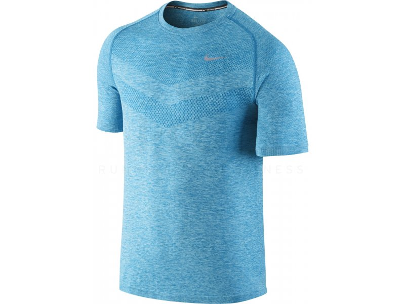 nike tee shirt dri fit knit m pas cher v tements homme running manches courtes en promo. Black Bedroom Furniture Sets. Home Design Ideas