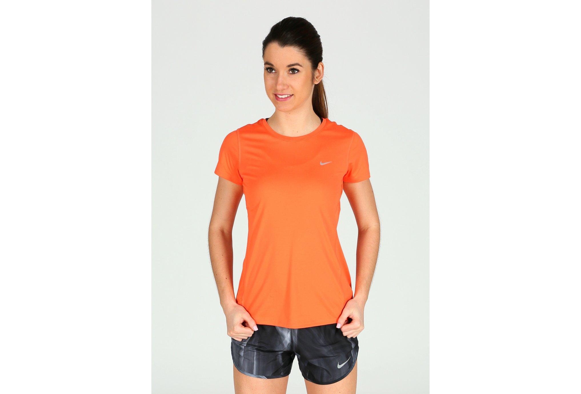 Nike Tee-shirt Miler W vêtement running femme