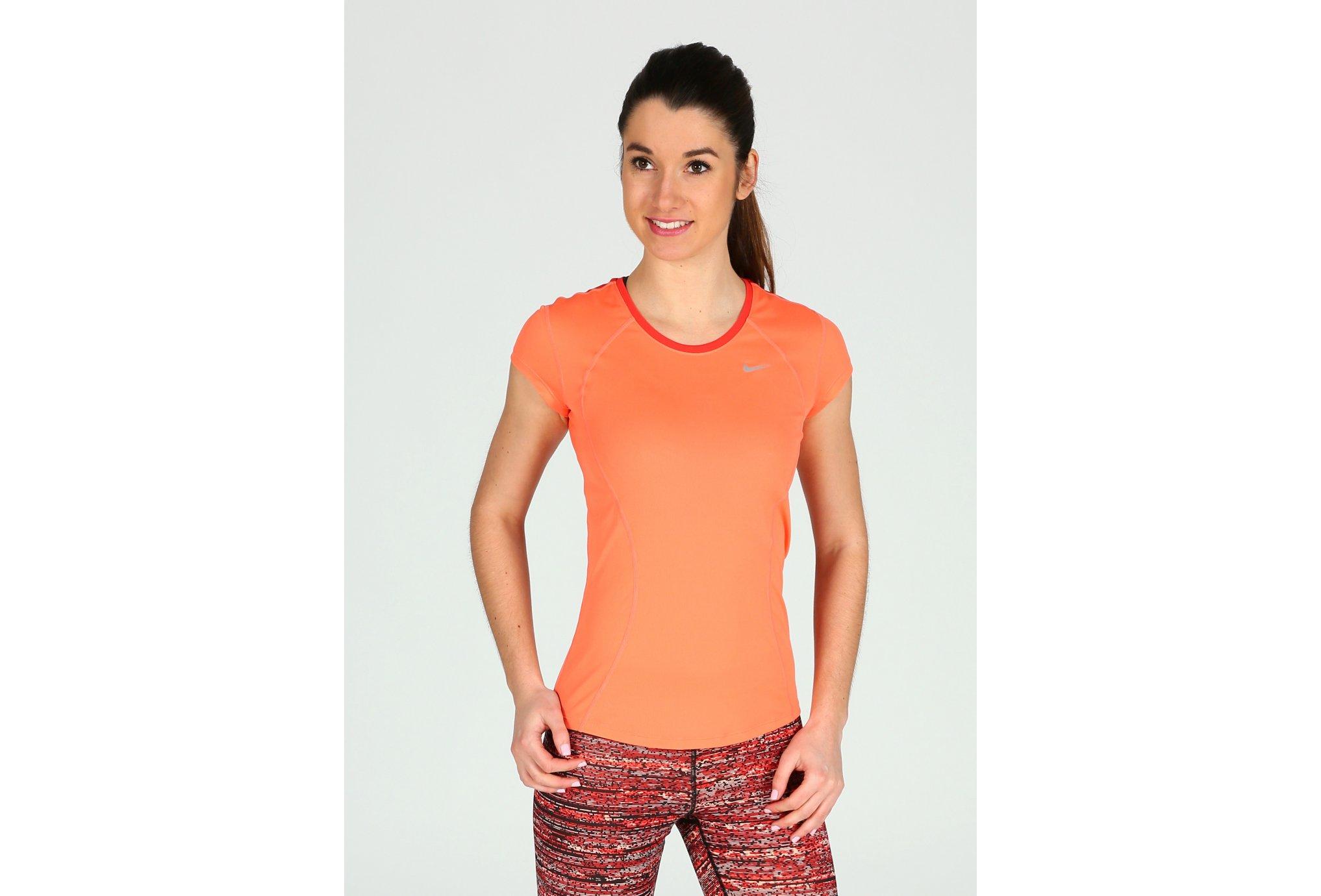 Nike Tee-Shirt Racer W vêtement running femme