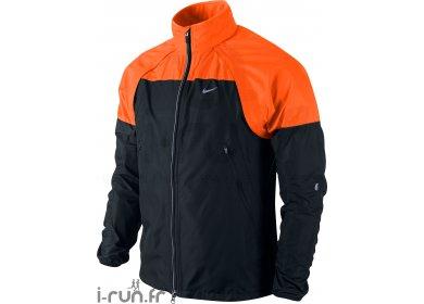 veste running nike shifter homme noir orange. Black Bedroom Furniture Sets. Home Design Ideas