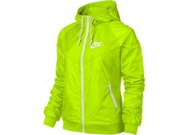 Veste running jaune fluo femme