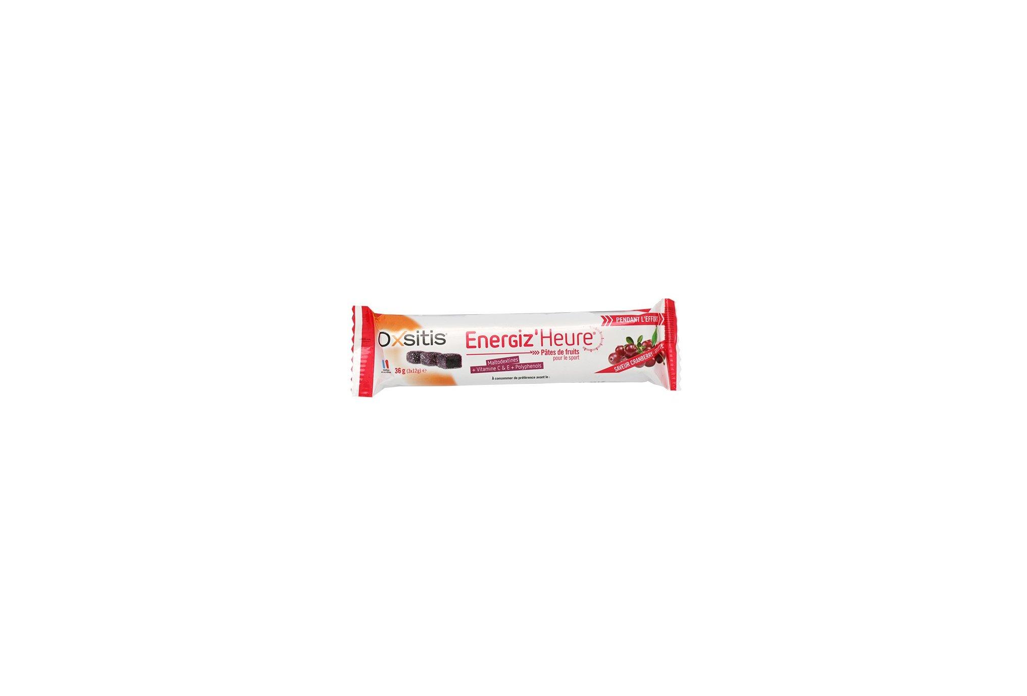 Oxsitis Pâte de Fruits Energiz'Heure - Cranberry/Griotte Diététique Barres