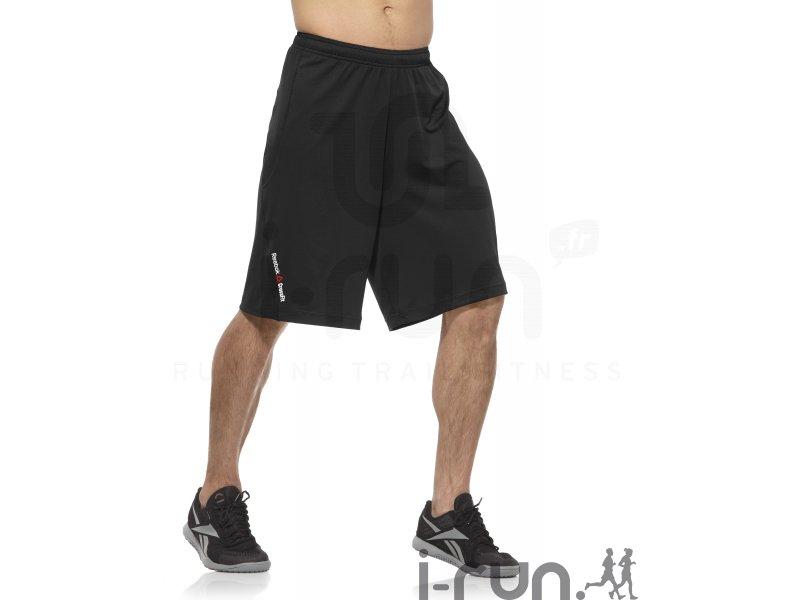 reebok short crossfit knit2 m pas cher v tements homme running training en promo. Black Bedroom Furniture Sets. Home Design Ideas