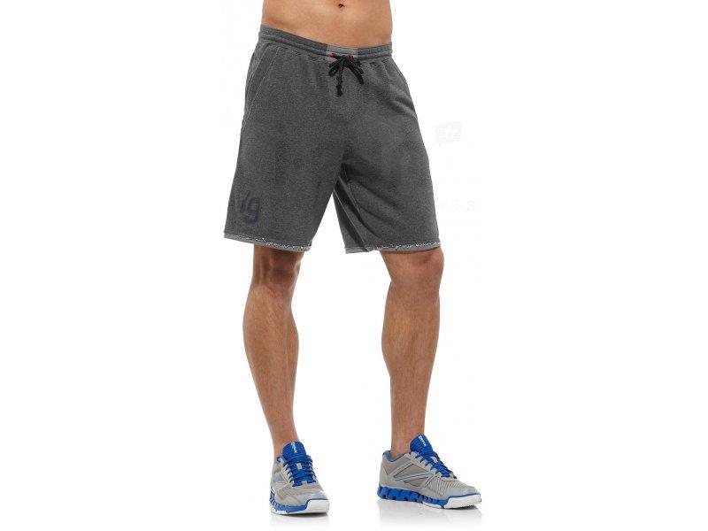 reebok short fitness m pas cher v tements homme running training en promo. Black Bedroom Furniture Sets. Home Design Ideas