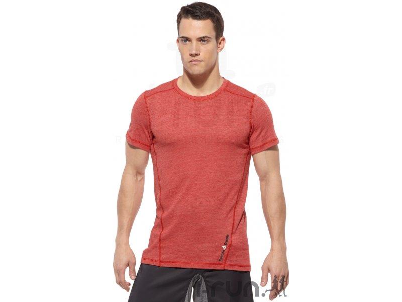 reebok t shirt crossfit tri blend m v tements homme running training reebok t shirt crossfit. Black Bedroom Furniture Sets. Home Design Ideas