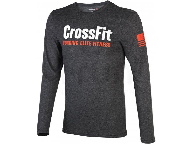 reebok tee shirt crossfit forging elite fitness m pas cher v tements homme running training en. Black Bedroom Furniture Sets. Home Design Ideas