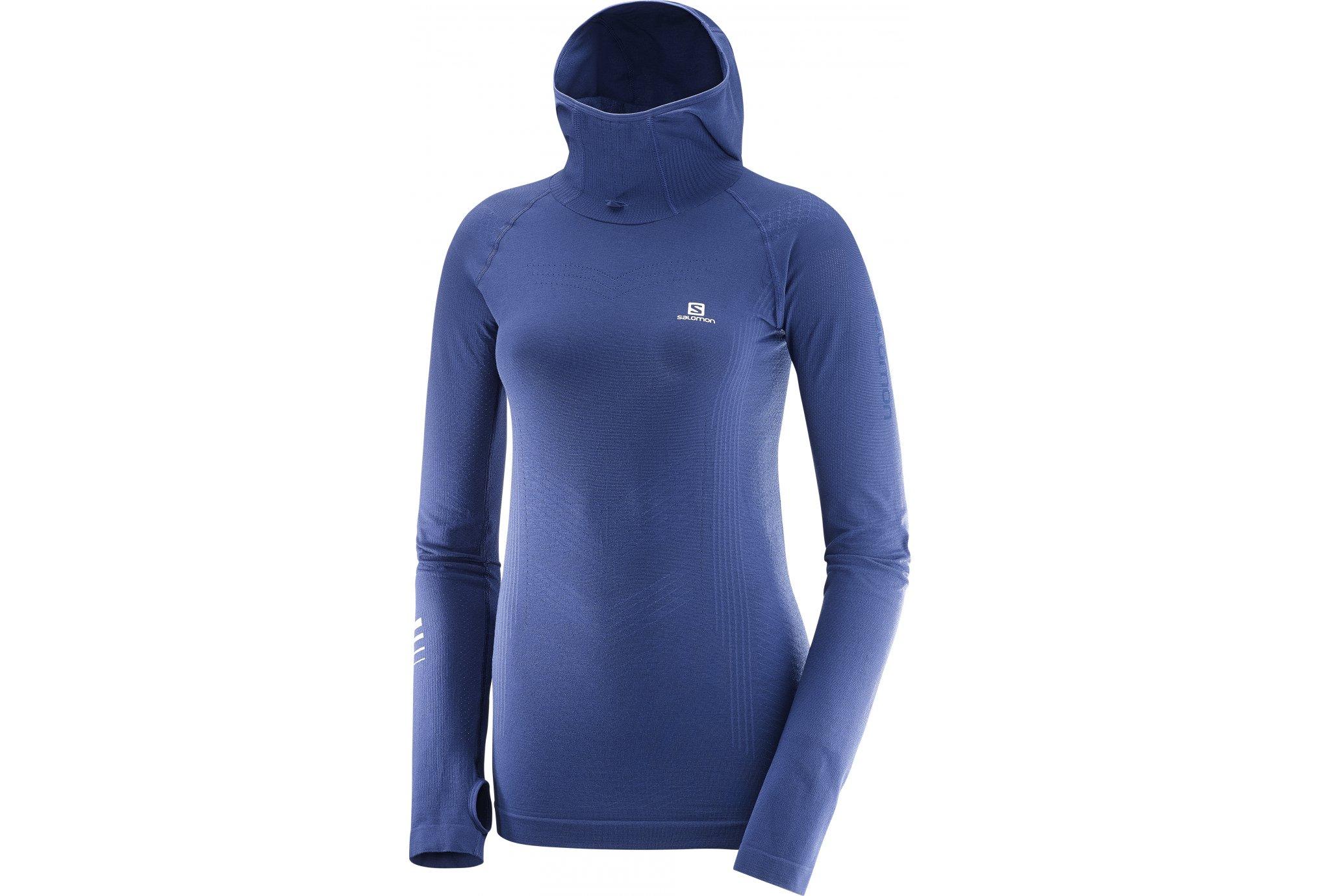 Salomon Lightning Pro LS Hoodie W vêtement running femme