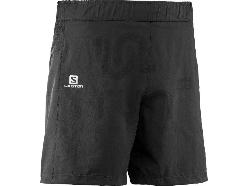 salomon short trail runner m pas cher v tements homme running shorts cuissards en promo. Black Bedroom Furniture Sets. Home Design Ideas
