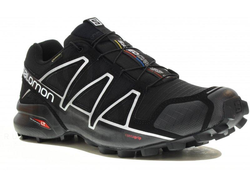 salomon speedcross 4 gore tex m pas cher chaussures homme running trail en promo. Black Bedroom Furniture Sets. Home Design Ideas