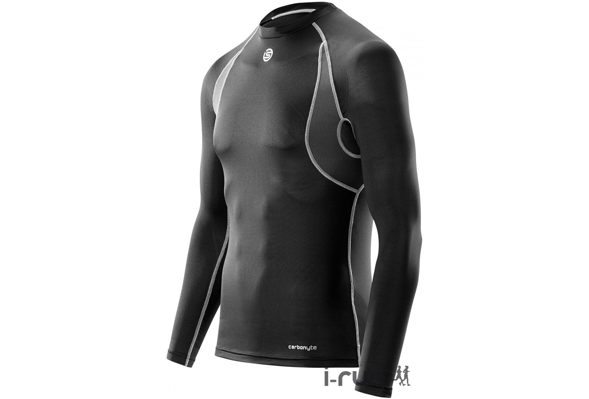 Skins Tee-shirt Carbonyte Baselayer M vêtement running homme