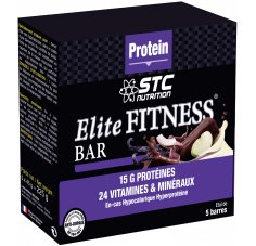 STC Nutrition Etui 5 Barres Elite Fitness Vanille