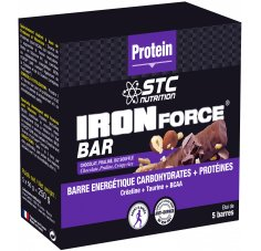 STC Nutrition Etui 5 Barres Iron Force Bar Chocolat Praliné