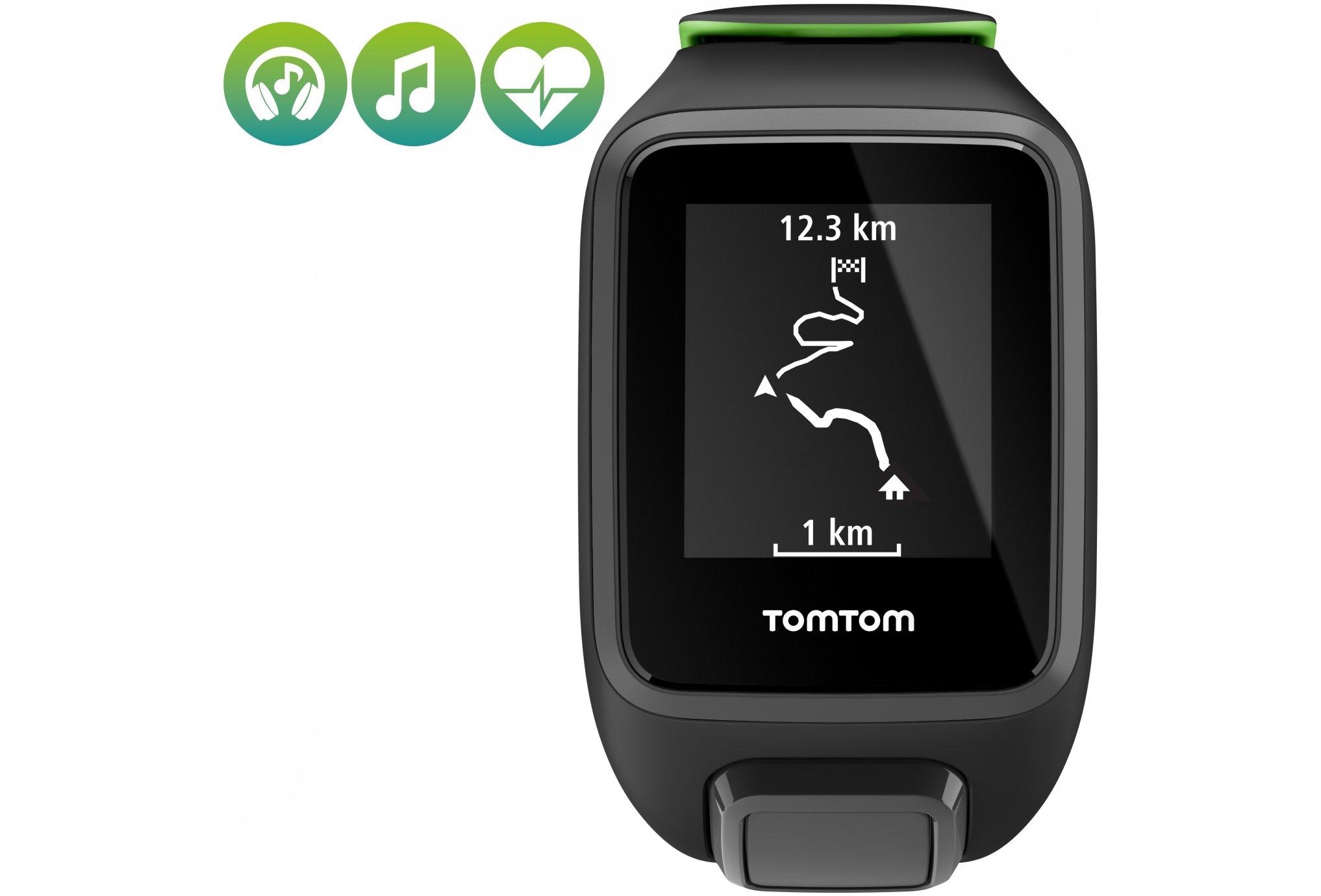 Tomtom Runner 3 Cardio + Music + Casque Bluetooth - Large Cardio-Gps