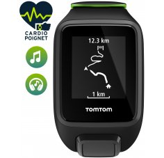 Tomtom Runner 3 Cardio + Music + Casque Bluetooth - Small