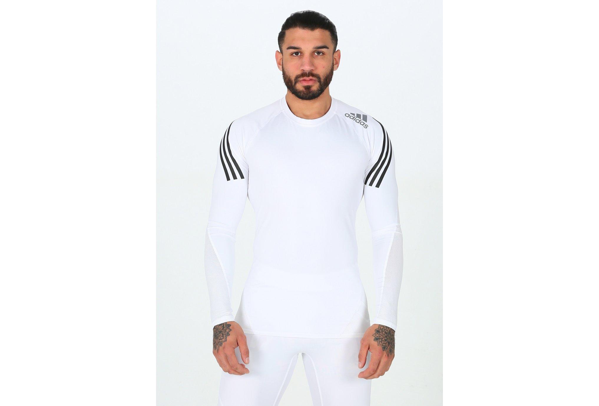 adidas Alphaskin Sport 3 Stripes M vêtement running homme