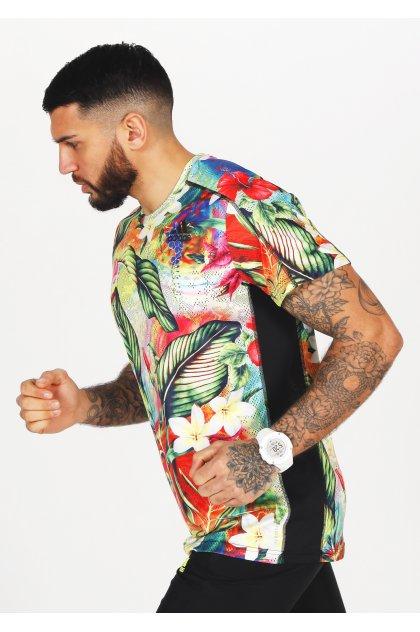 adidas camiseta manga corta Own The Run Floral Primegreen