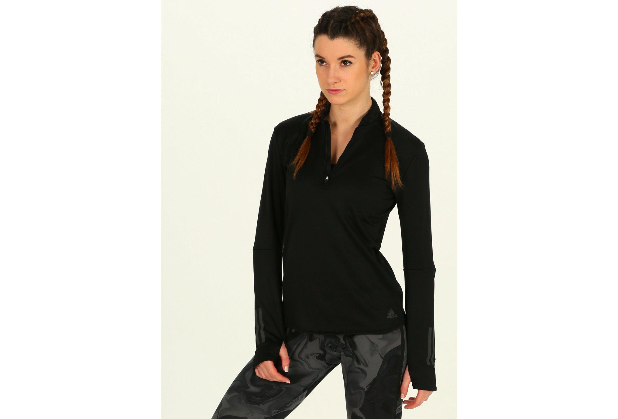 Adidas Response climawarm 1/2 zip w vêtement running femme