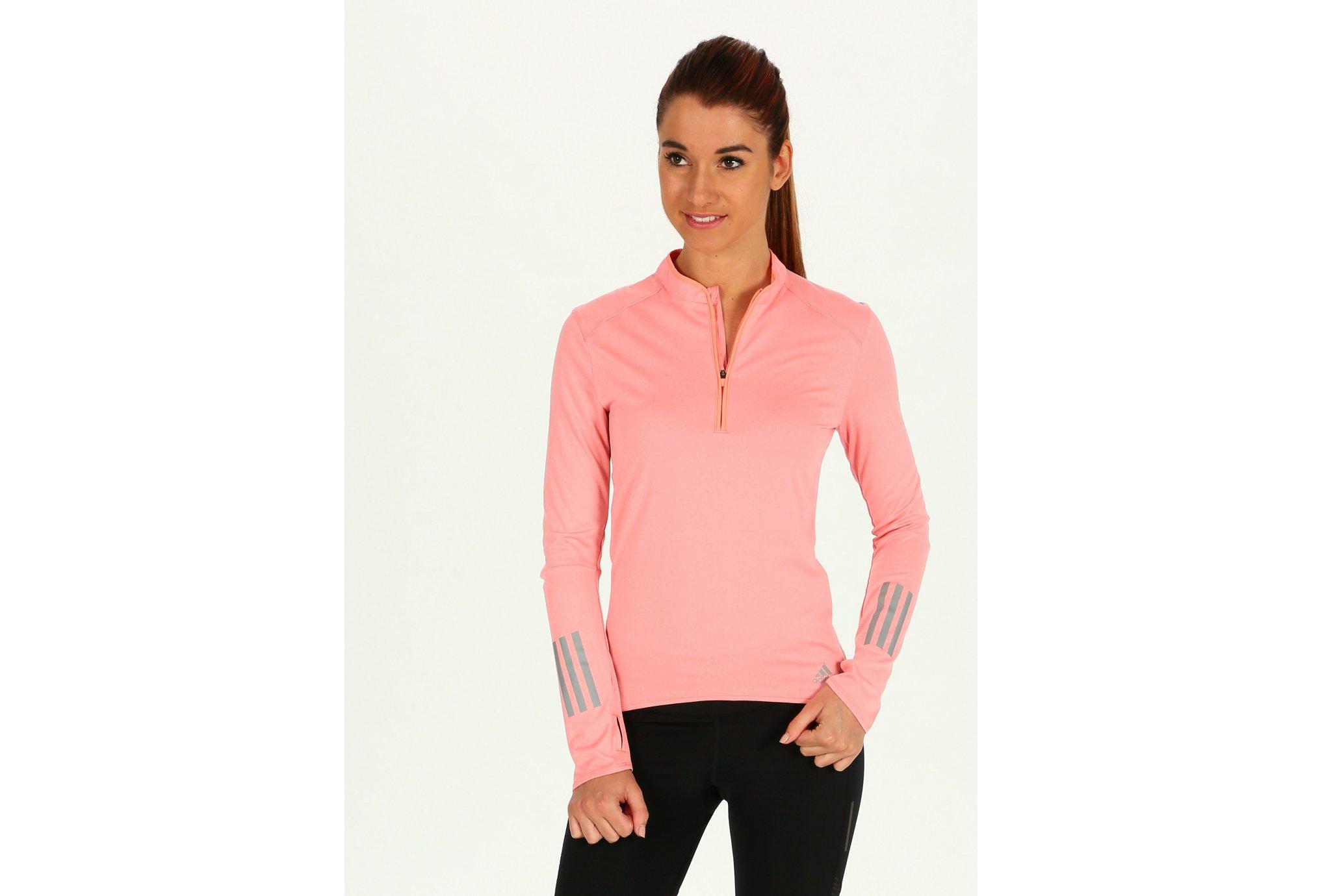 Adidas Response zip w vêtement running femme