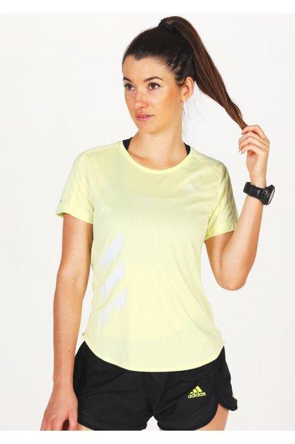 adidas camiseta manga corta Run It 3-Stripes Fast